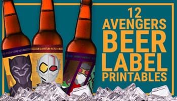 12 Avengers Beer Labels for a MARVEL-ous Endgame Viewing Party