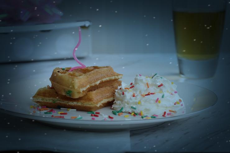Cake Batter Waffle
