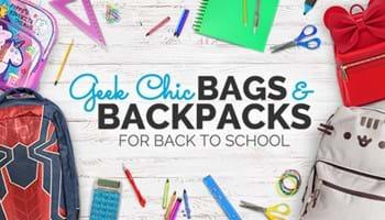 Back to School Geek Chic Bags & Backpacks