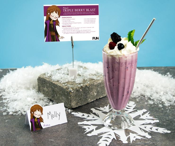 Frozen Anna Milkshake Recipe