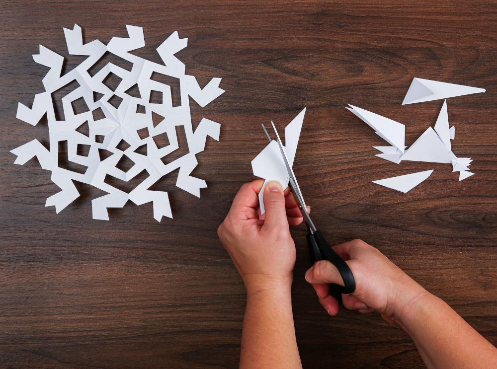DIY Disney Paper Princess Snowflakes Step Three