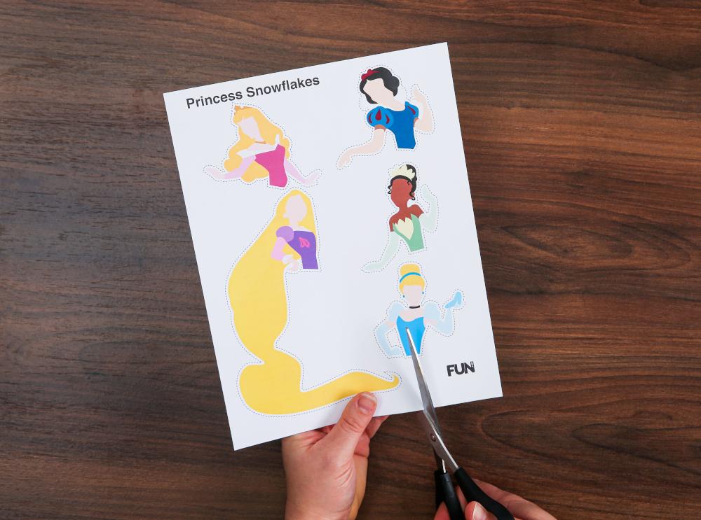 DIY Disney Paper Princess Snowflakes Step Two