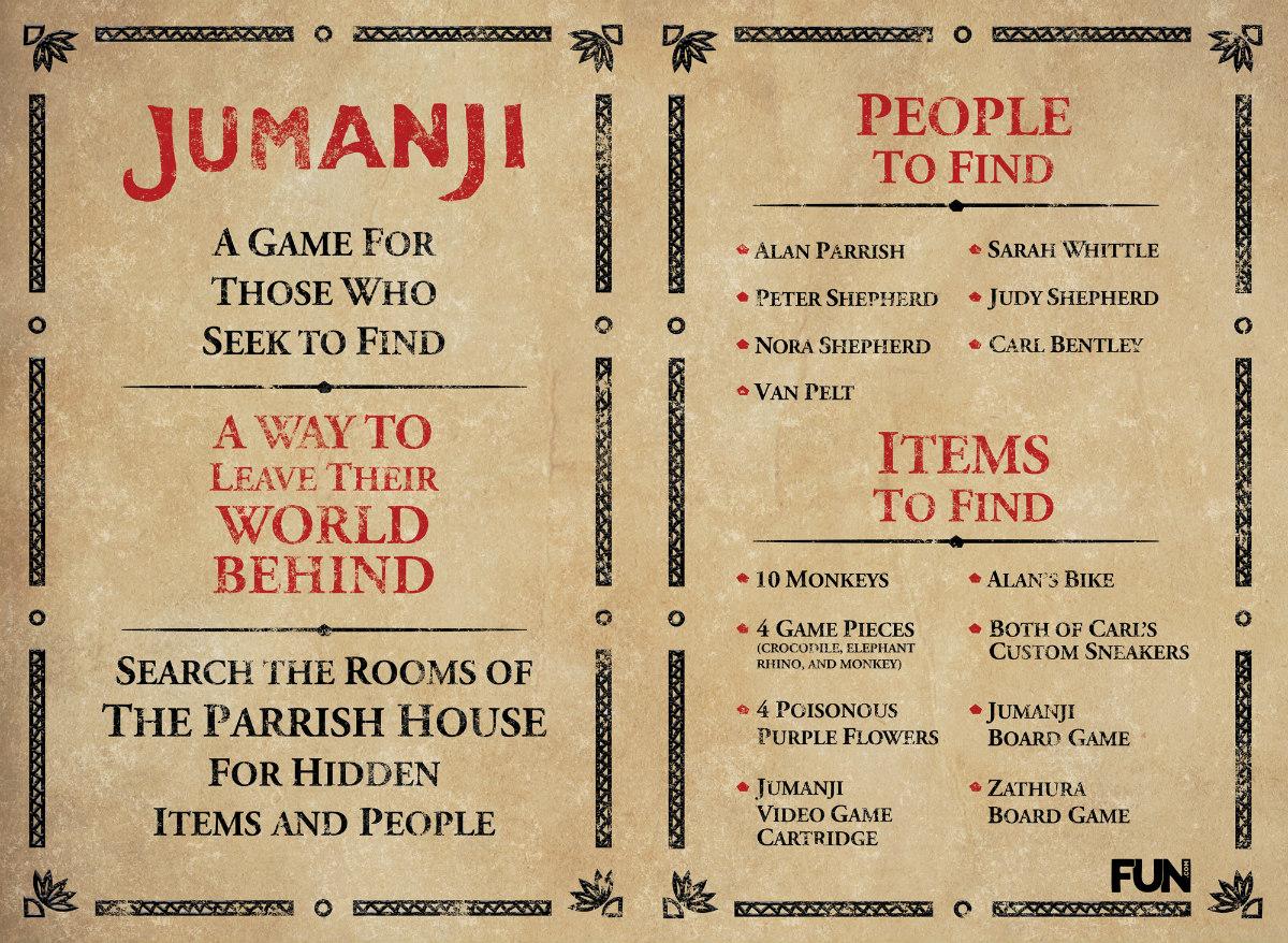 Jumanji Game Rules
