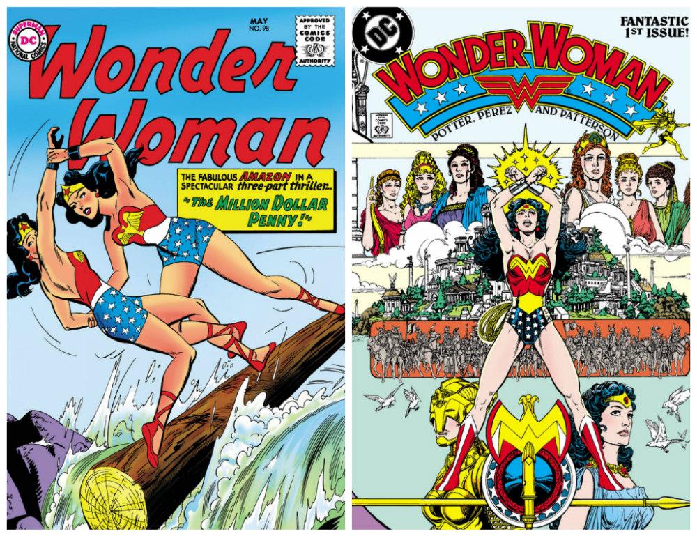 Wonder Woman #98 (May 1958) and Wonder Woman #1 (February 1987)