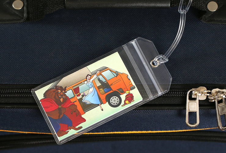 Beauty and the Beast Disney Luggage Tag