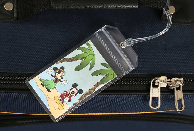 Mickey and Minnie Mouse Disney Luggage Tag