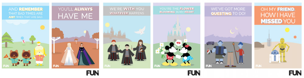 Printable Pop Culture Greeting Cards