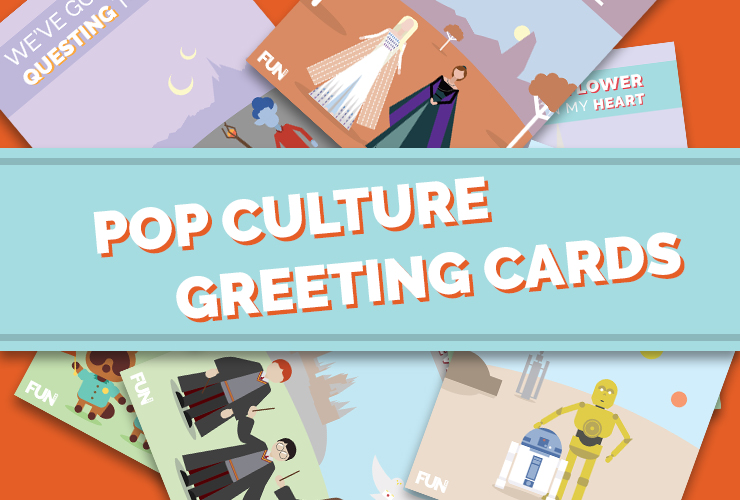 6 Pop Culture Greeting Cards to Keep in Touch