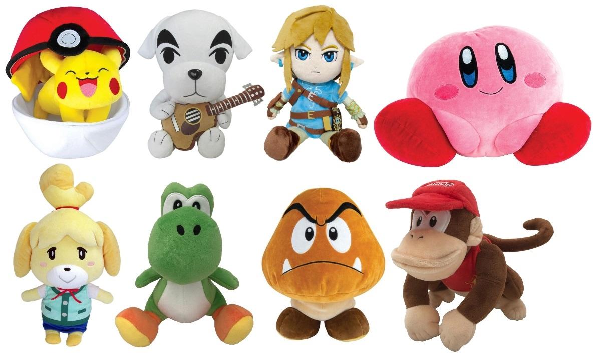Nintendo and Pokémon Plush Toys