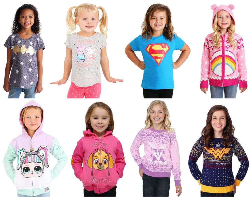 Girls' Shirts, Hoodies, and Sweaters