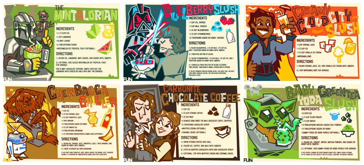 Star Wars Frozen Drink Recipe Cards