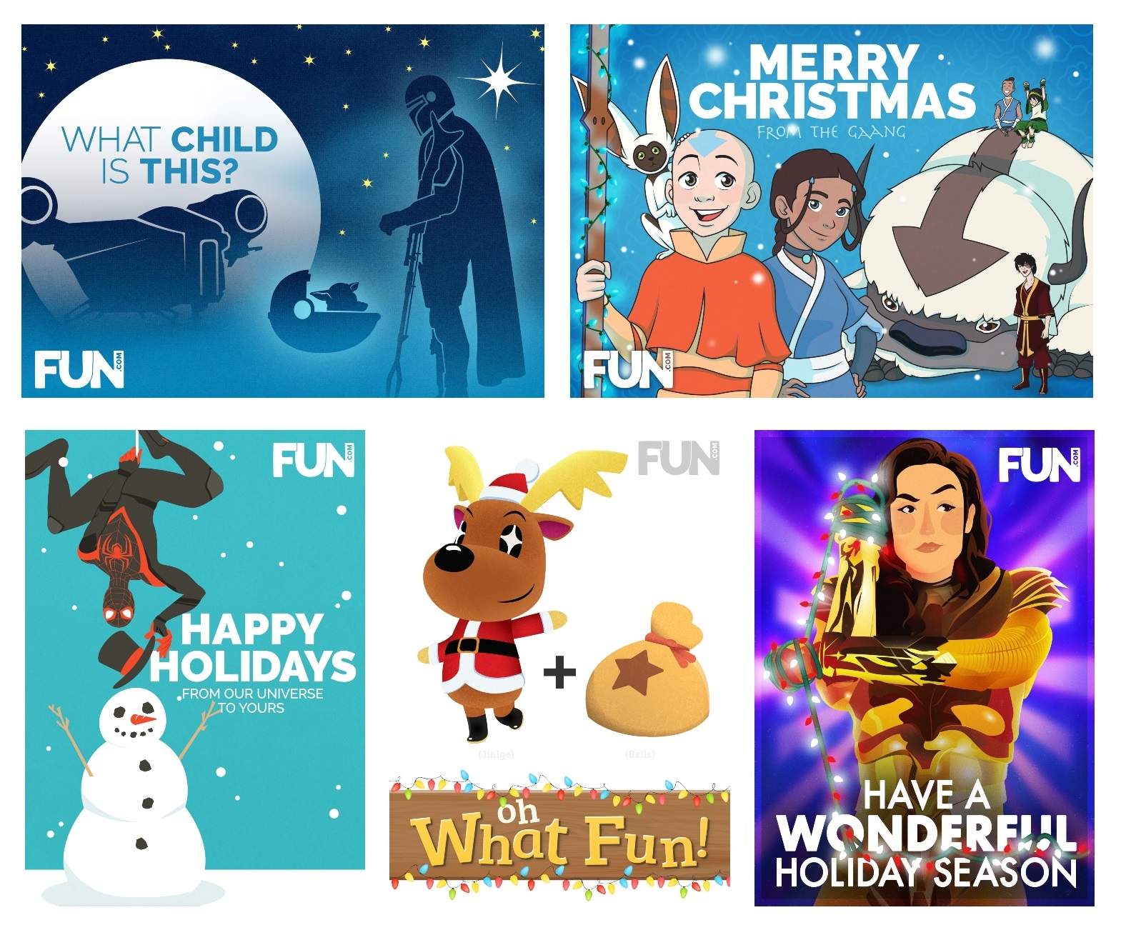 Pop Culture Holiday Card Printables