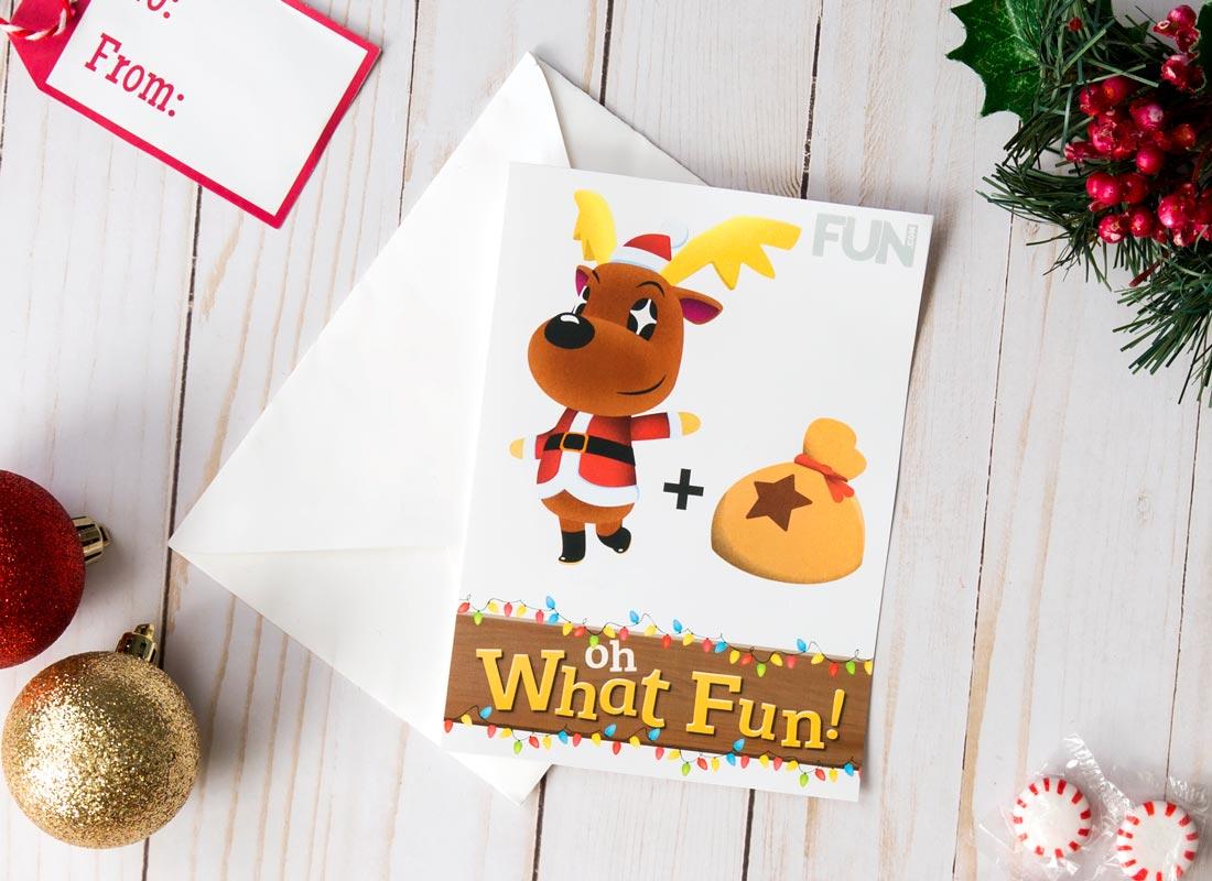 Animal CrossingChristmas Card