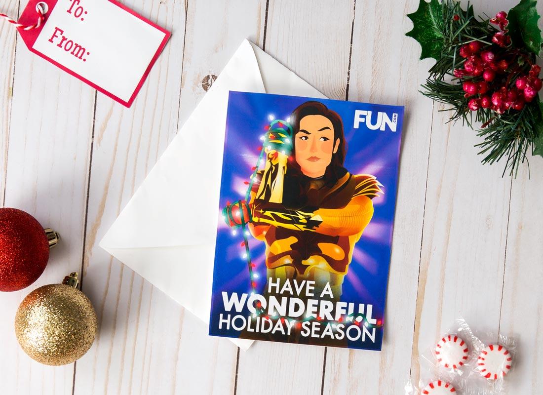 Wonder Woman Christmas Card