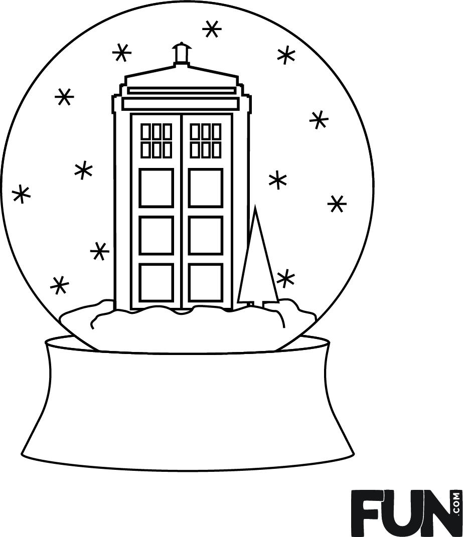 Winter Wonderland TARDIS Embroidery Design