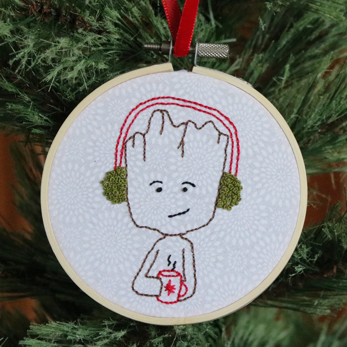 Christmas Groot Embroidery Design