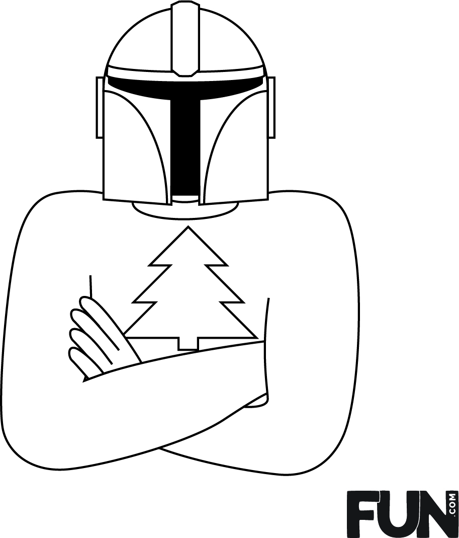 Mandalorian Ugly Christmas Sweater Embroidery Design