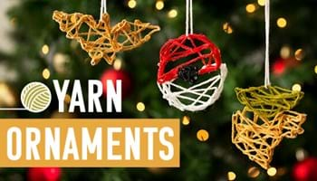 Our Fun Yarn Ornaments Will Tie Your Holiday Decorating Plans Together