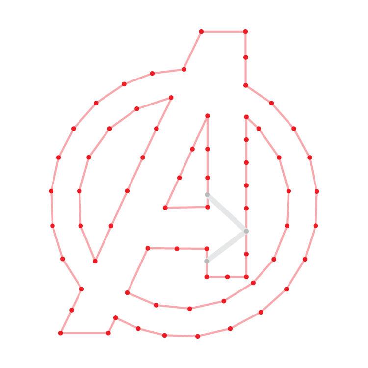 Avengers Logo Yarn Ornament
