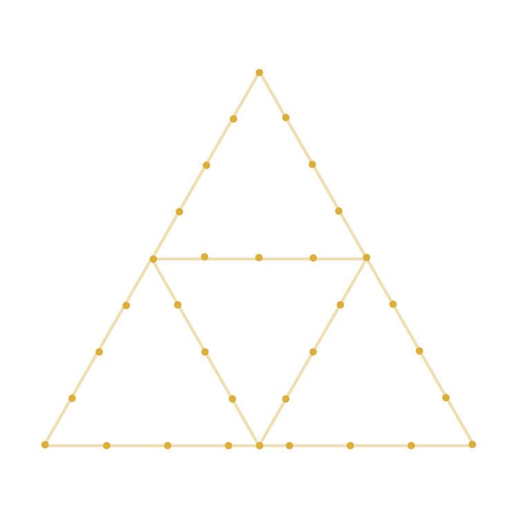 Triforce Yarn Ornament