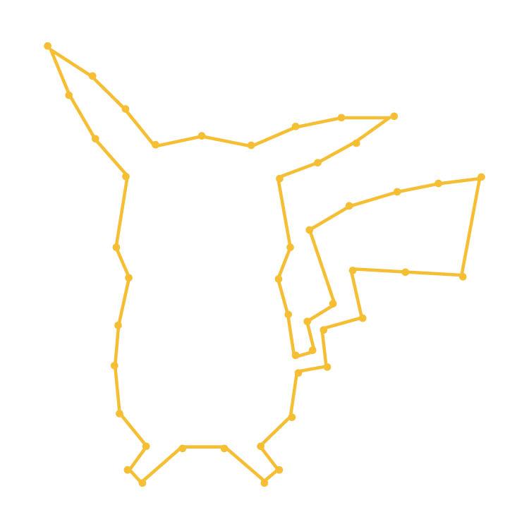 Easy Pikachu Logo Ornament