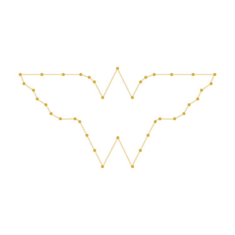 Easy Wonder Woman Logo Yarn Ornament