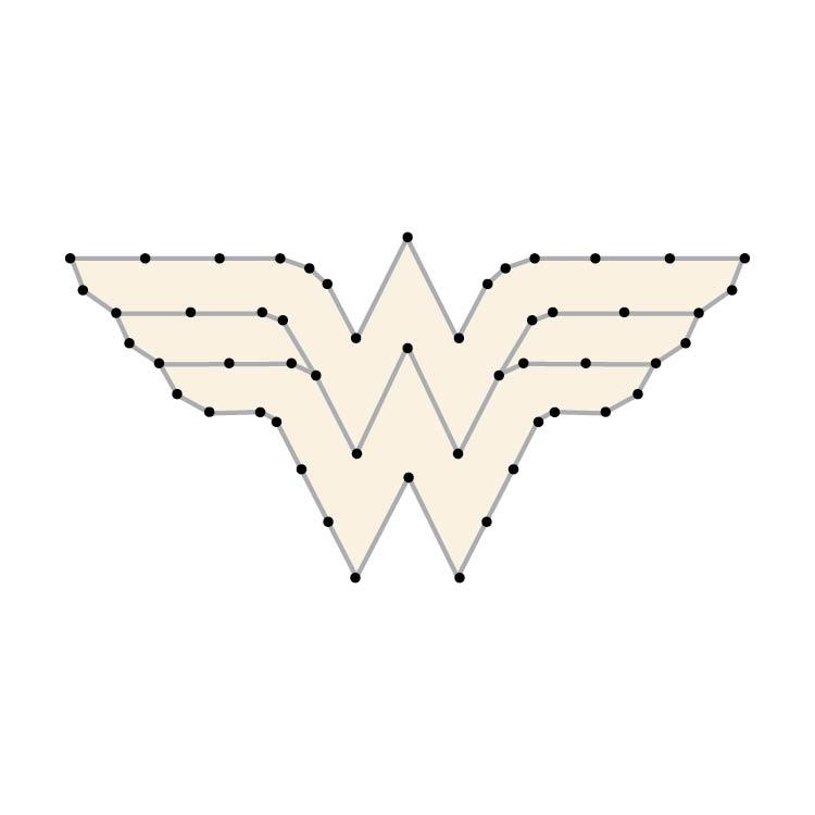 Challenging Wonder Woman Logo Yarn Ornament