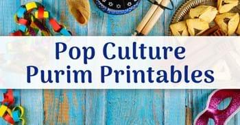 Pop Culture Purim Printables