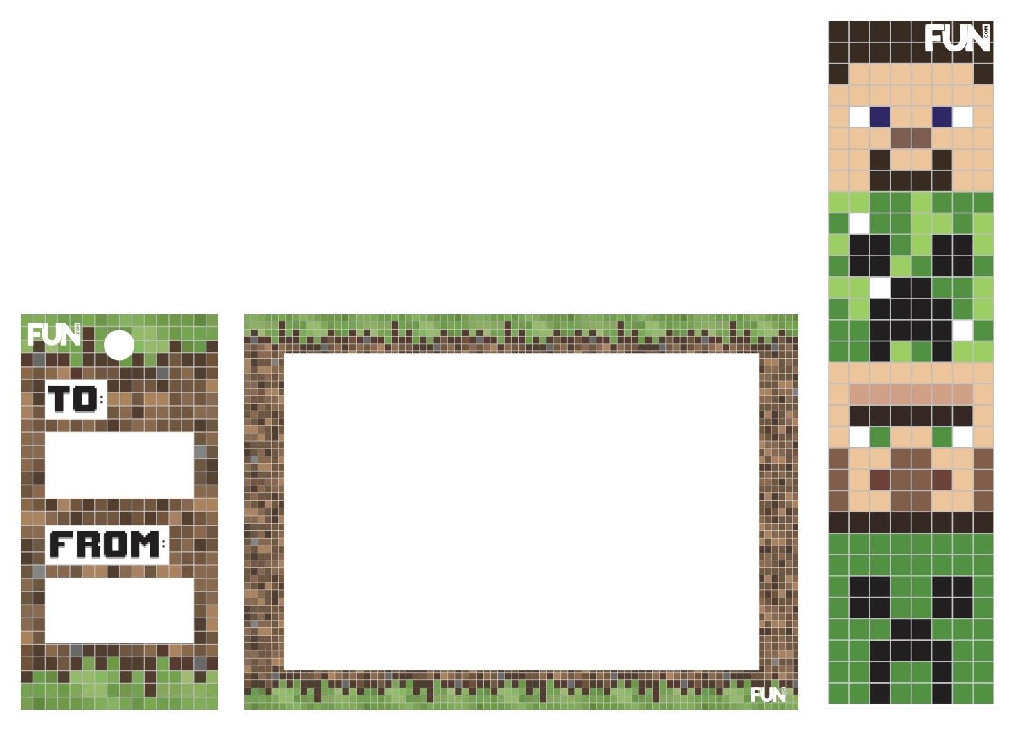Minecraft Mishloach Manot Printables