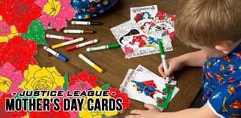 Justice League Mother's Day Cards