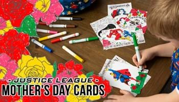 Printable Justice League Mother's Day Cards