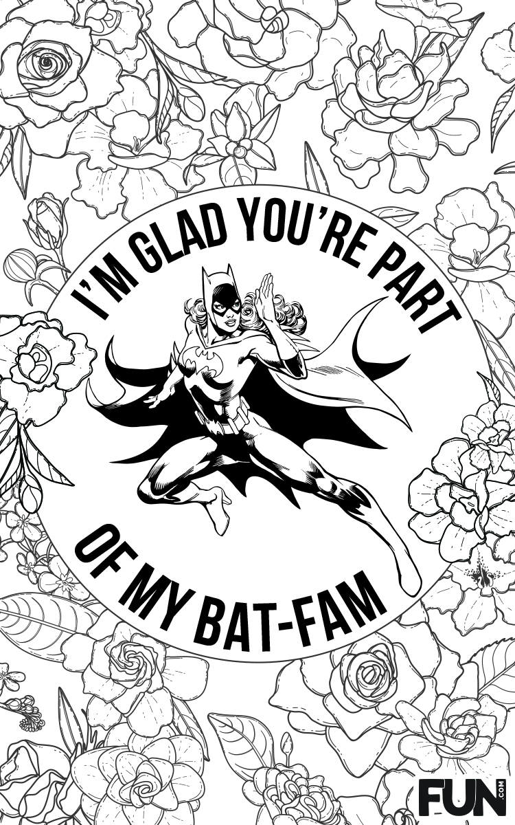 Batgirl Mother's Day Card