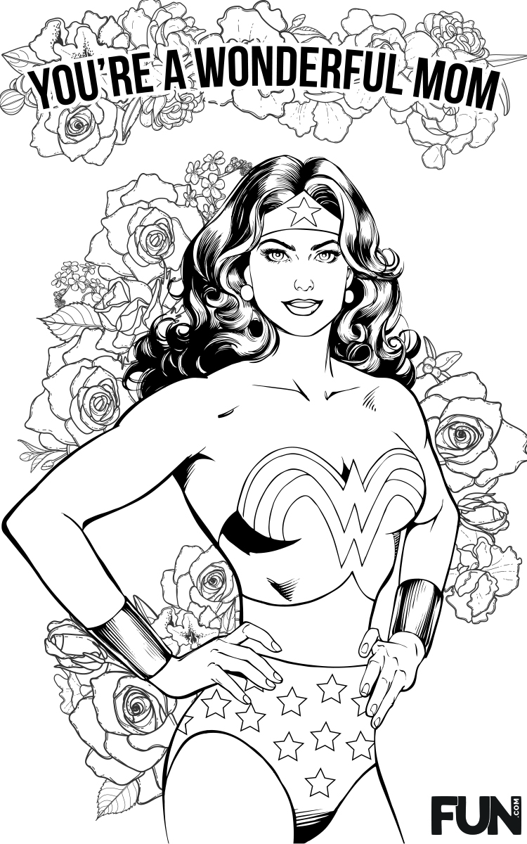 Mother's Day Wonder Woman Card