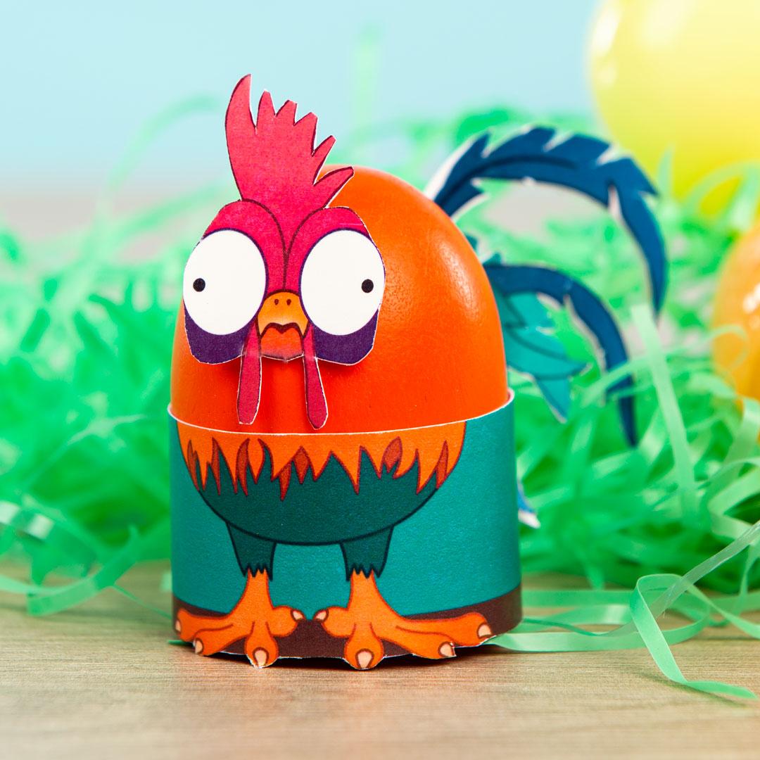 Printable Hei Hei Easter Egg