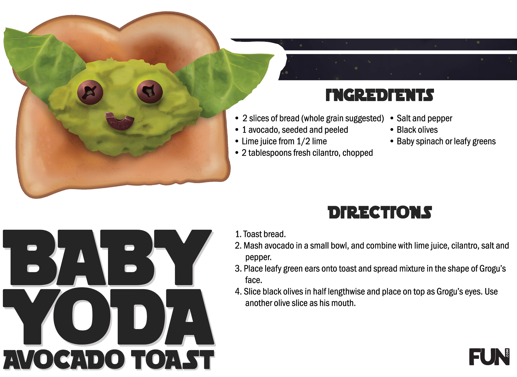 Grogu Avocado Toast Recipe