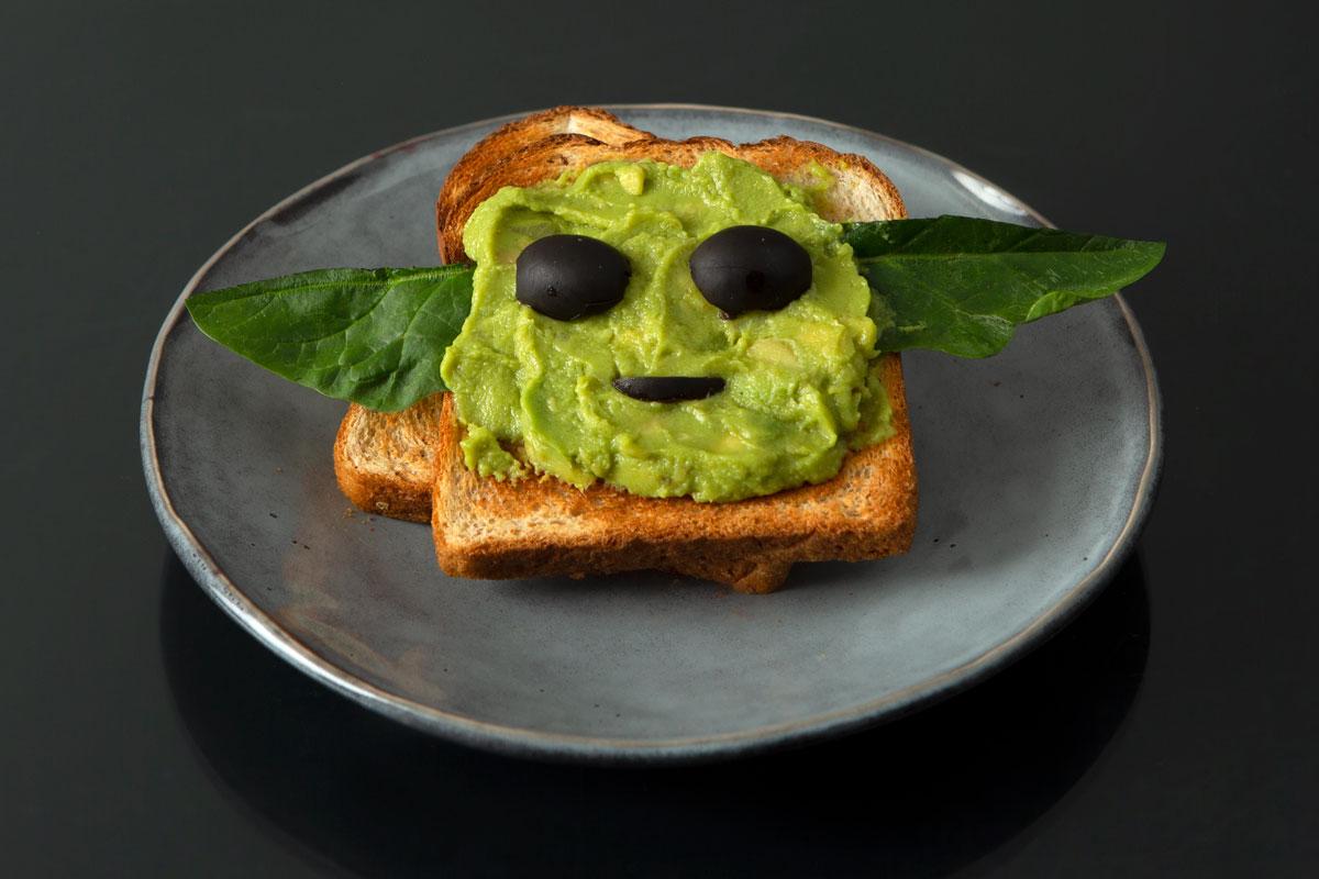 Baby Yoda Avocado Toast