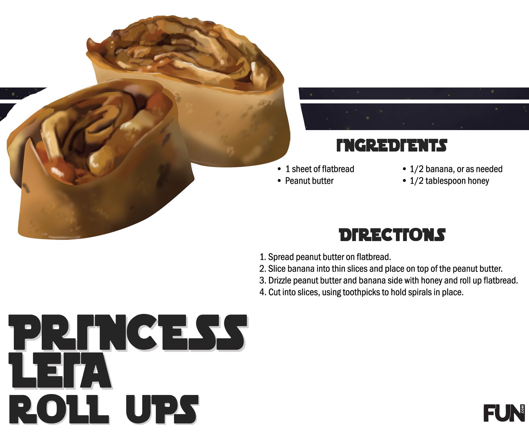 Princess Leia Roll Ups Recipe