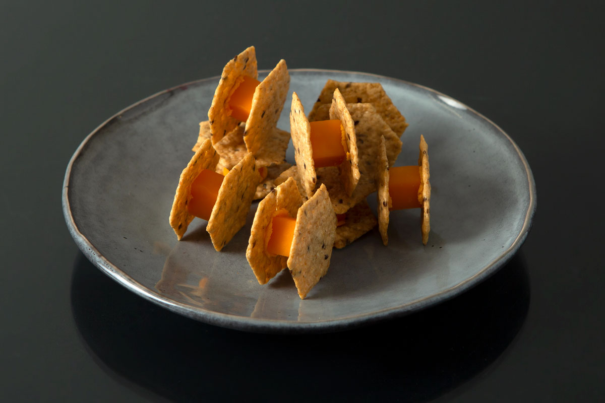 Tie Fighter Crackers and Cheese