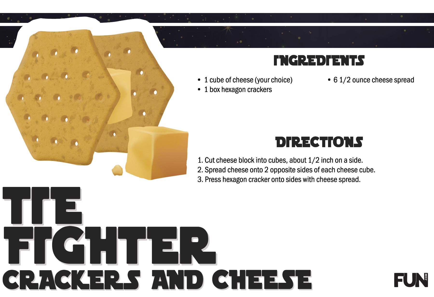 Tie Fighter Crackers and Cheese Recipe