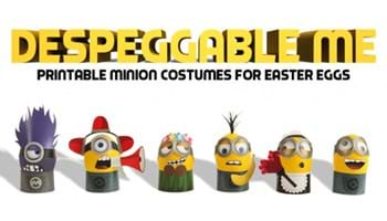 DespEGGable Me: DIY Minion Costumes for Easter Eggs
