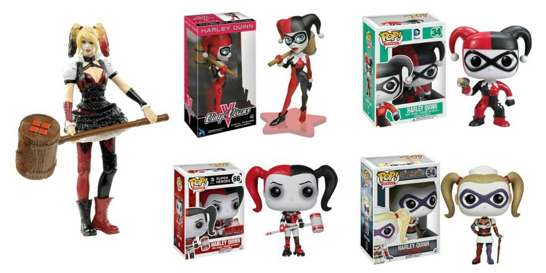 Harley Quinn Action Toys and POP! Vinyl Figures