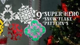 Supehero Snowflake Patterns