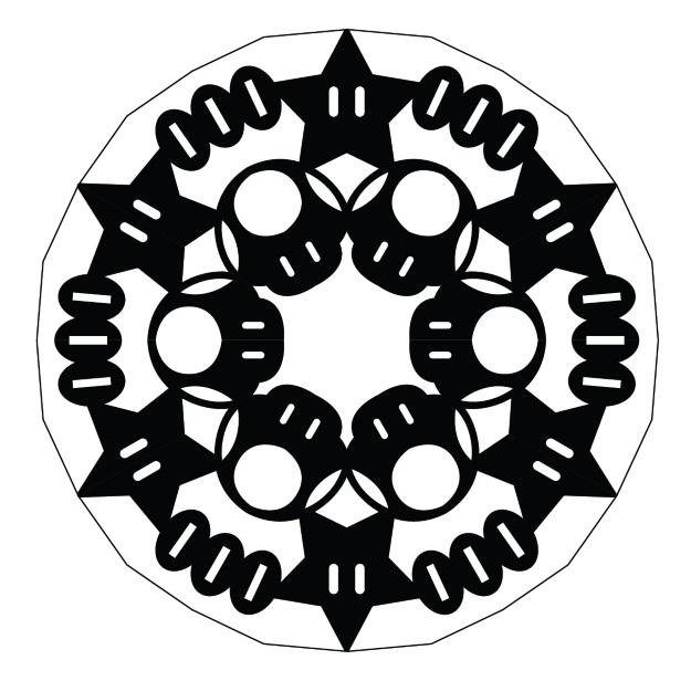 Mario Mushroom Snowflake