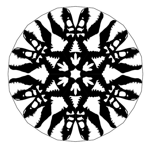 Jurassic Park Snowflake