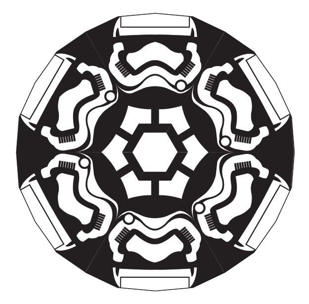 Star Wars Force Awakens Stormtrooper Snowflake