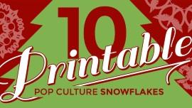 pop culture snowflake patterns