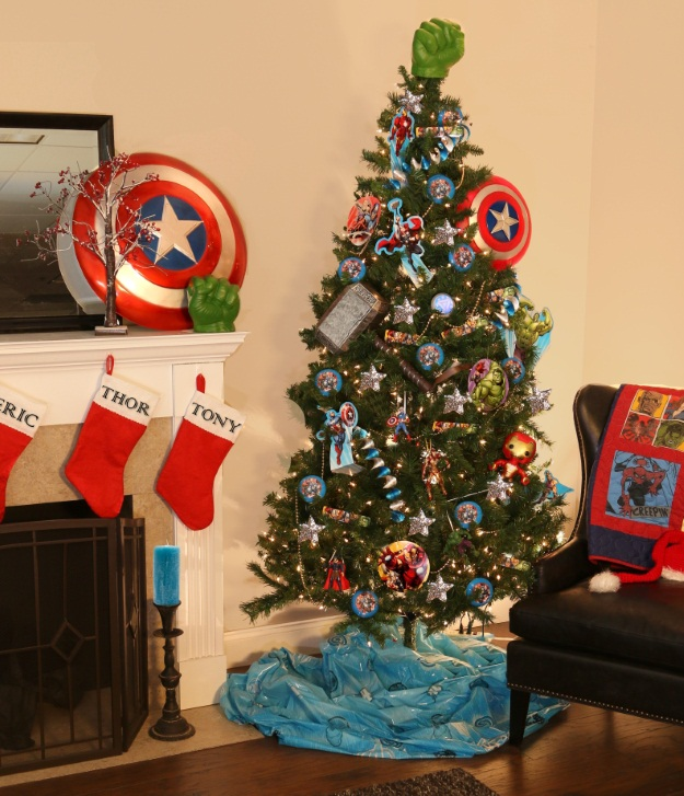 Marvel Avengers Theme Christmas Tree - Pop Culture Christmas Trees