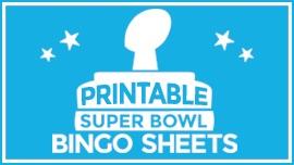 graphic about Printable Super Bowl Bingo Cards titled Tremendous Bowl Bingo Sheets [Printables] - Pleasurable Weblog