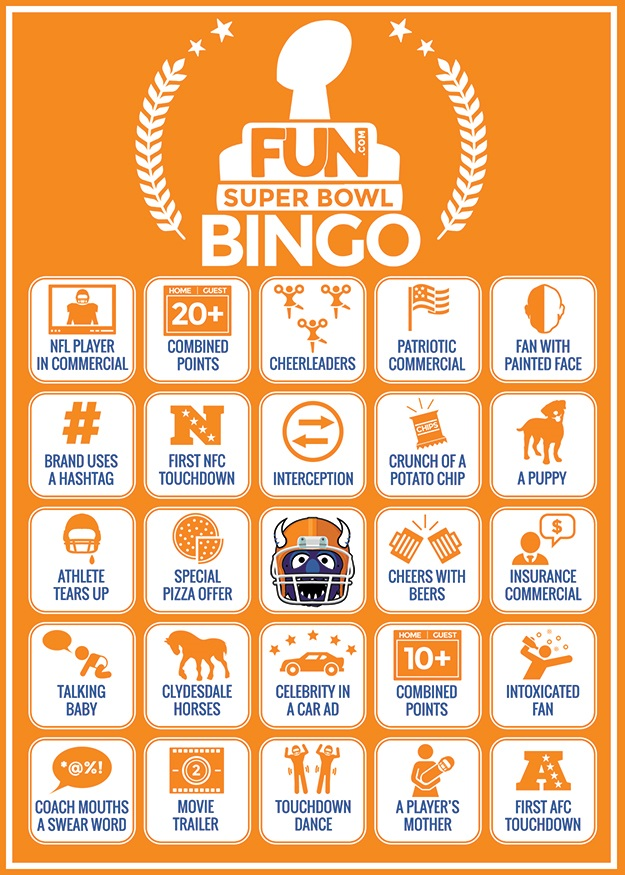 Printable Bingo Cards for the Super Bowl