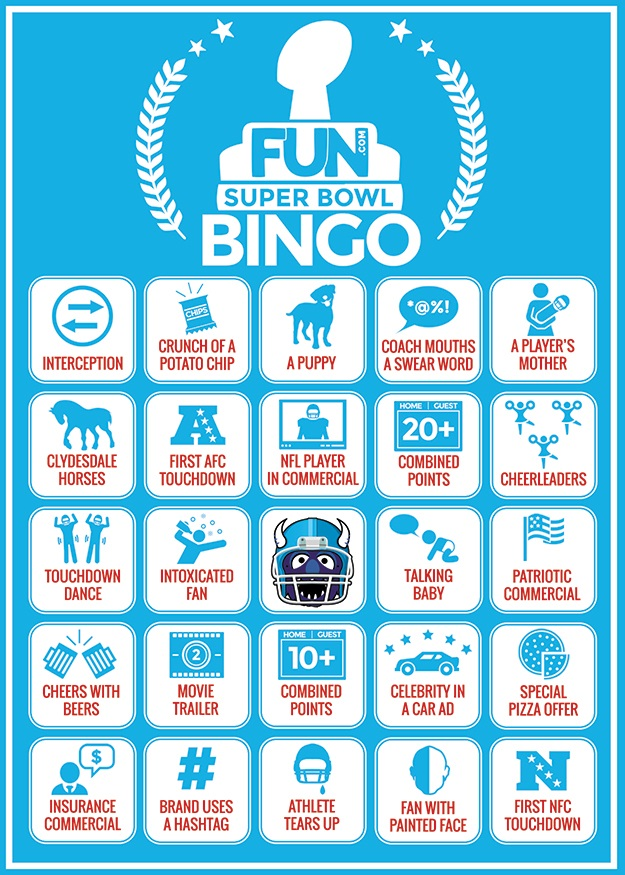 graphic relating to Printable Super Bowl Bingo Cards known as Tremendous Bowl Bingo Sheets [Printables] - Pleasurable Website